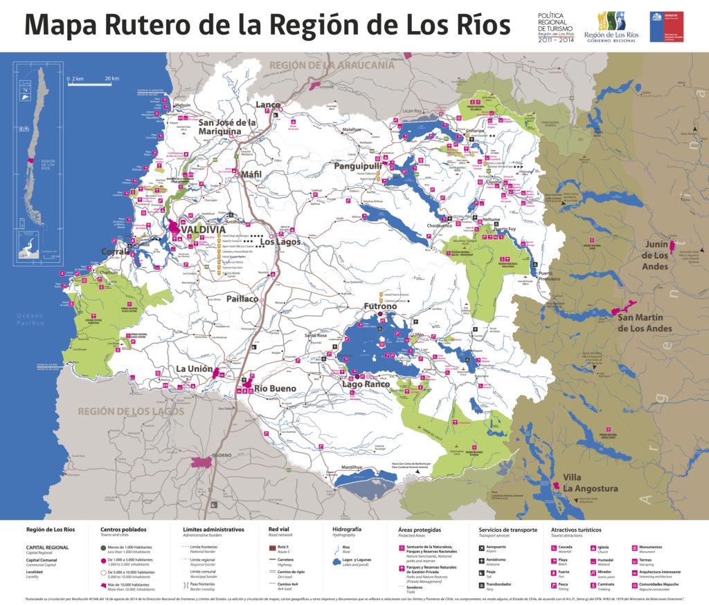 Mapa-Región de Los Ríos
